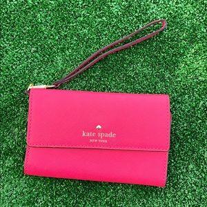 Kate Spade Pink Wristlet w/ Phone & Card Holder